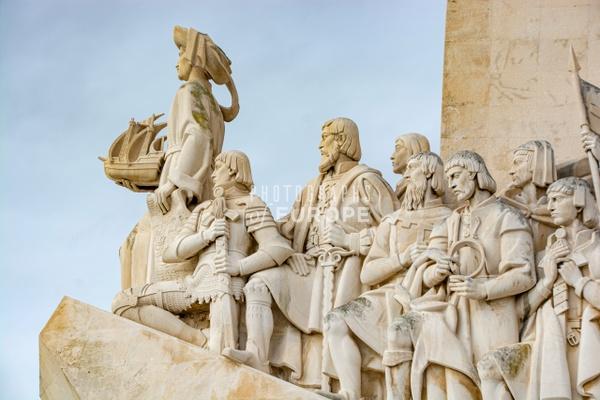 Close-up-on-figures-Discoveries-Monument-Lisbon-Portugal - Photographs of Lisbon and Cascais, Portugal.