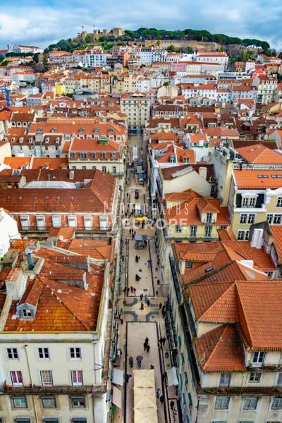Roof-top-view-from-Elevador-de-Santa-Justa-Lisbon - Photographs of Lisbon and Cascais, Portugal.