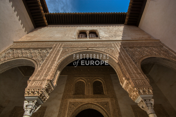 Alhambra-arch-ornate-carving-Granada-Spain - Photographs of Granada, Spain