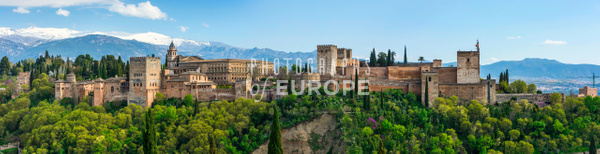Alhambra-Palace-panorama-Granada-Spain - Photographs of Granada, Spain