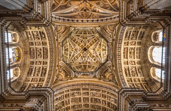 Ornate-ceiling-Granada-Spain - Photographs of Granada, Spain