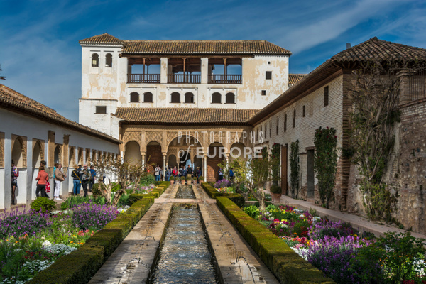 The-Palacio-de-Generalife-Alhambra-Granada-Spain - Photographs of Granada, Spain