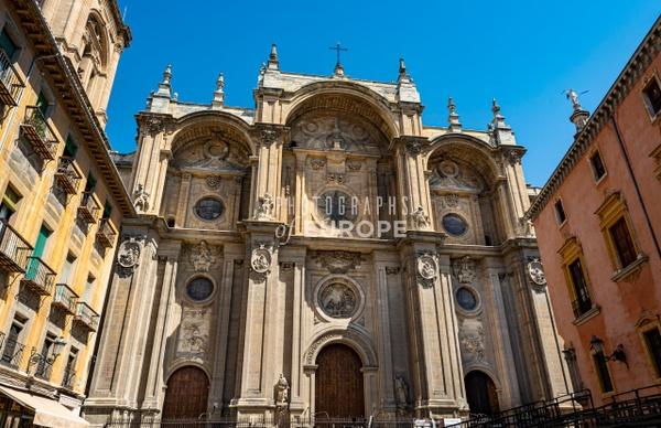 Granada-Cathedral-frontage-Granada-Spain - Photographs of Granada, Spain