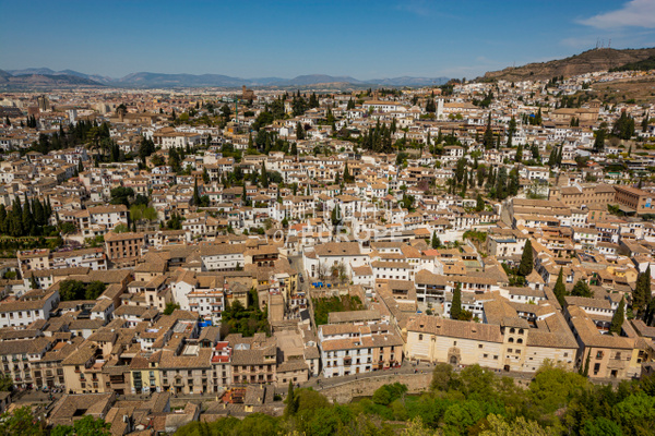 View-of-The-Albaicín-from-Alhambra-Palace-Granada-Spain - Photographs of Granada, Spain