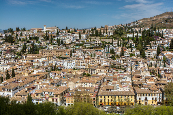 View-of-The-Albaicín-from-Alhambra-Palace-Granada-Spain-2 - Photographs of Granada, Spain