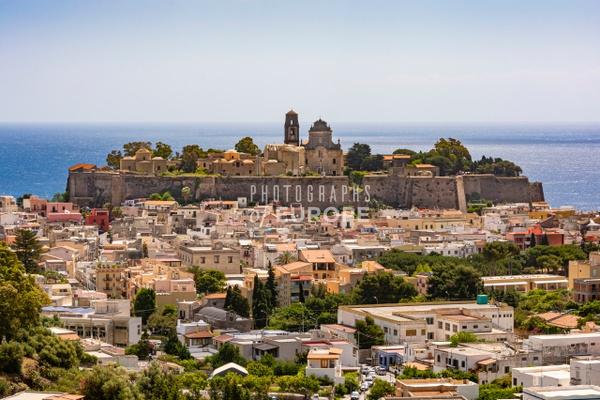Cathedral-on-Lipari-Acropolis-Aeolian-Islands-Italy - Photographs of the Aeolian Islands, Italy