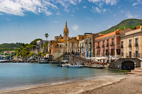 Lipari-sea-front - Photographs of the Aeolian Islands, Italy
