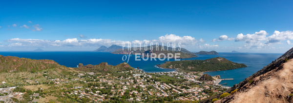 Panoramic-view-of-Aeolian-Islands-Italy - Photographs of the Aeolian Islands, Italy