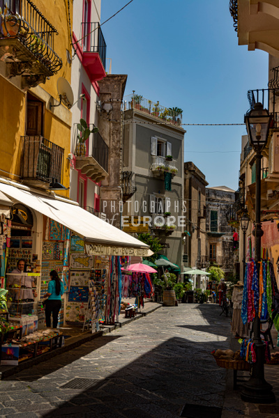 Tourist-shops-Lipari-Aeolian-Islands-Italy - Photographs of the Aeolian Islands, Italy