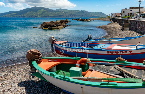 Salina-fishing-boats-and-beach-Aeolian-Islands-Italy - Photographs of the Aeolian Islands, Italy