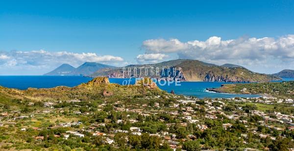 Lipari-from-Vulcano-Aeolian-Islands-Italy - Photographs of the Aeolian Islands, Italy