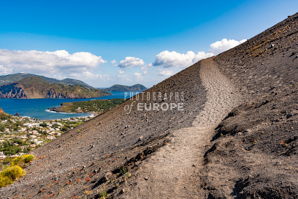 Path-to-volcano-peak-Vulcano-Aeolian-Islands-Italy - Photographs of the Aeolian Islands, Italy
