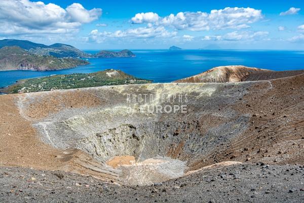 Volcano-crater-Vulcano-Aeolian-Islands-Italy - Photographs of the Aeolian Islands, Italy