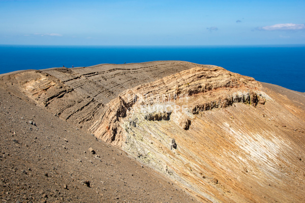 Volcano-crater-rim-Vulcano-Aeolian-Islands-Italy - Photographs of the Aeolian Islands, Italy