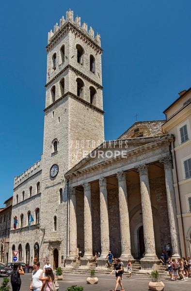 Church-of-Santa Maria-sopra-Minerva-in-Assisi-Umbria-Italy - Photographs of Umbria, Italy