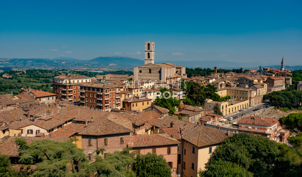 Panoramic-view-from Perugia-Umbria-Italy - Photographs of Umbria, Italy