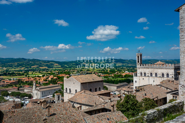 View-from-Gubbio-Town-Umbria-Italy - Photographs of Umbria, Italy