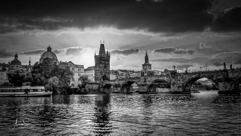 Golden Prague in Black and White