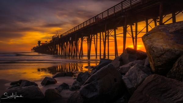 Oceanside Pier at Golden Hour by ScottWatanabeImages