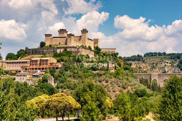 The-Albornoz-Fortress of-Spoleto-Umbria-Italy - Photographs of Umbria, Italy