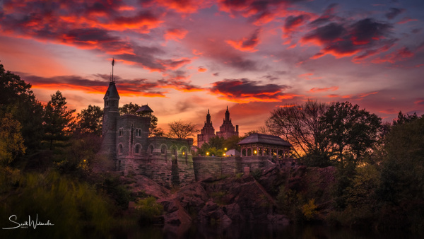 Belvedere Castle at Sunset by ScottWatanabeImages