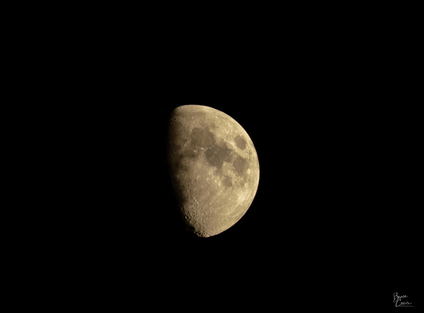 Half moon over Yorba Linda by Bruce Crair