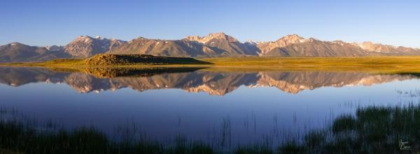 Crowley Lake Pano by Bruce Crair