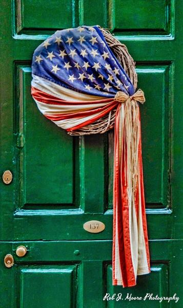 2019 Flag With Wreath - Philadelphia - Robert Moore Photography